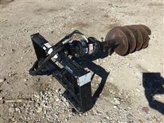 John Deere Worksite Pro PA15 Skid Steer Hydraulic Post Hole Digger
