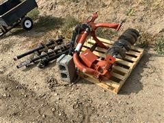 Rhino 3-Pt PTO Driven Post Hole Auger W/Augers