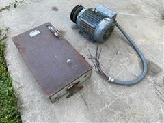 Electric Motor With Panel Box