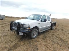 2002 Ford F250 Lariat Four Door Flatbed Pickup