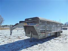 2014 Gooseneck B7B1T T/A Livestock Trailer