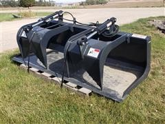 "2019 Stout HD72-FB 72"" Wide Grapple Bucket Skid Steer Attachment"