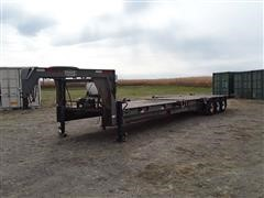 1998 Homemade 8X44 36' Tri/A Flatbed Trailer