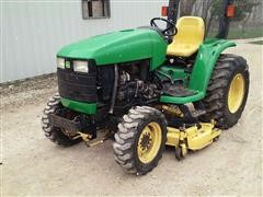 1999 John Deere 4300 MFWD Compact Utility Tractor W/Mower
