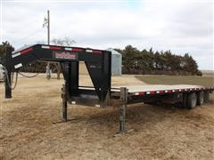 2015 Finish Line T/A Gooseneck Dovetail Trailer