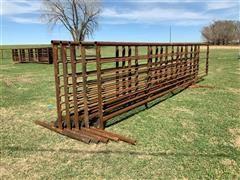Hirsch Custom Welding Heavy Duty Full Frame 24' Free Standing Livestock Panels