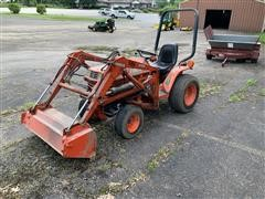 1991 Kubota B1550 HST Compact Utility 4WD Tractor W/Loader