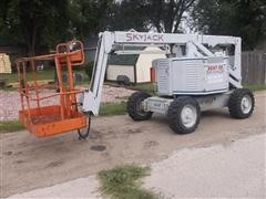 1999 Skyjack Boom Lift SJKB-40-D 4X2 Diesel Powered Man Lift 40' Boom