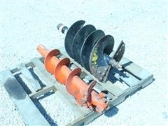 Skid Steer Hydraulic Post Hole Digger Augers