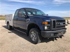 2008 Ford F250 XL Super Duty 4x4 Extended Cab Service Truck