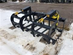 2019 Mid States Skid Steer Brush/Root Grapple