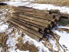 Treated Wood Line Post