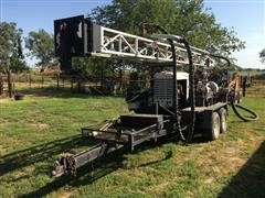 Shop Built Well Rig on T/A Trailer