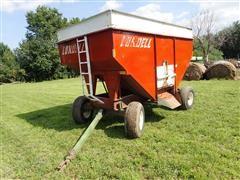 Lundell 300 Bushel Gravity Box W/John Deere 1065 Gear