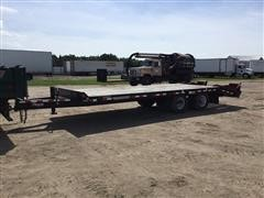 2012 Towmaster T-20 T/A Flatbed Equipment Trailer