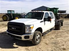 2012 Ford F350 4X4 Flatbed Pickup