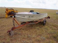 Dura Craft 15' Aluminum Boat With Trailer