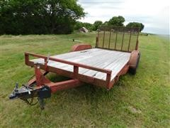Shop Built Bumper-Pull T/A Flatbed Utility Trailer