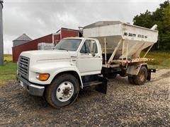 1998 Ford F700 S/A Bulk Fertilizer Tender Truck