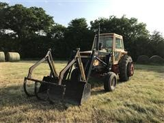 1973 Case 1370 2WD Tractor W/Loader