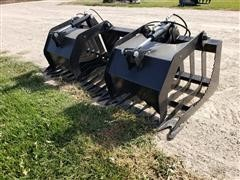 "2019 Brute 75"" Wide Brush/Root Grapple Skid Steer Attachment"