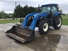 2011 New Holland T6030 Plus MFWD Tractor W/Westendorf 550 Loader