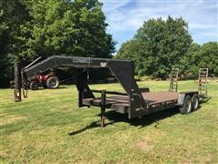 1999 Buck Dandy T/A Flatbed Trailer