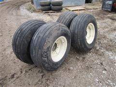 BKT Farm Implement 12.5L-15SL Tires & 8 Bolt Rims