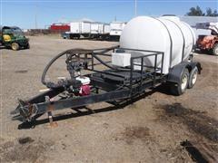 Shop Built Trailer W/1000 Gallon Water Tank & Pump