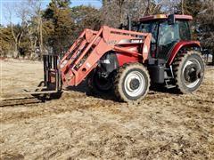 2003 Case IH MXM175 MFWD Tractor W/LX175 Loader