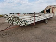 "Diamond 6"" Diameter Gated PVC Pipe & Trailer"