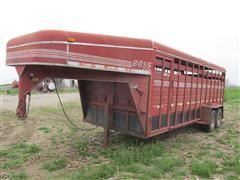 1997 Boss 8020GNR T/A Livestock Trailer