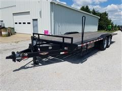 2017 H&H 1256582 T/A Flatbed Trailer