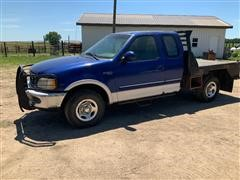 1997 Ford F150 XLT 4x4 Flatbed Pickup