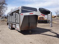 2014 Coose 6'x16' Gooseneck T/A Livestock Trailer