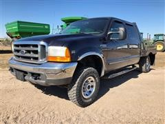 2000 Ford F250 XLT Super Duty 4 Door Crew Cab 4x4 Pickup Truck