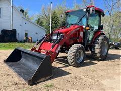 2013 Case IH Farmall 40B MFWD Tractor W/Loader