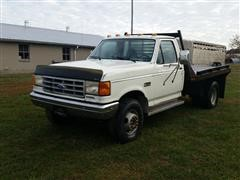1990 Ford F450 Flatbed Pickup