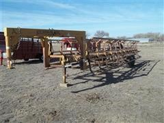 2007 Atchison Gooseneck 10 Round Bale Transport Trailer