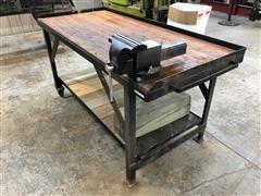 JB Custom Work Bench Made W/bowling Alley Floor