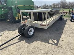 Industrias America 90R 24' Feeder Wagon W/Silage Inserts