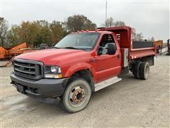 2002 Ford F450 4x4 Flatbed Dump Truck