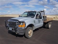 1999 Ford F450 Dual Wheel 4x4 Flatbed Pickup