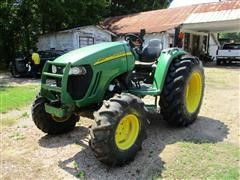 2007 John Deere 4720 MFWD Tractor W/400X Loader, Bucket & Hay Spear