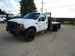 2000 Ford F450 XL Super Duty Flatbed Pickup