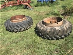 Co-Op 18.4-34 Dual Tires & Clamp-On Rims