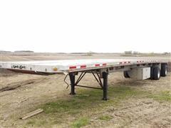 2000 Benson AF489650 T/A Flatbed Trailer