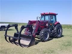 2004 Case IH JX95 MFWD Tractor W/LX730 Loader