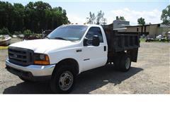 1999 Ford F450 Flatbed Dump Truck