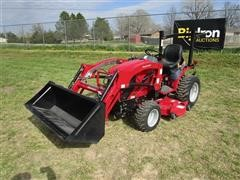 2017 Mahindra EXS224FHILM EMax 22S MFWA Compact Utility Tractor W/Loader & Mower